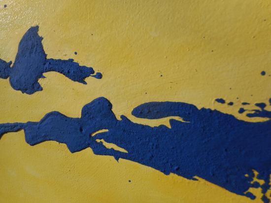 Détail acrylique et huile technique mixte
